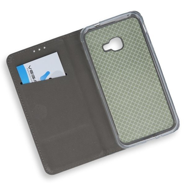 WALLET FLIP CASE COVER Magnetic SAMSUNG GALAXY XCOVER 4 SM-G390 STEEL