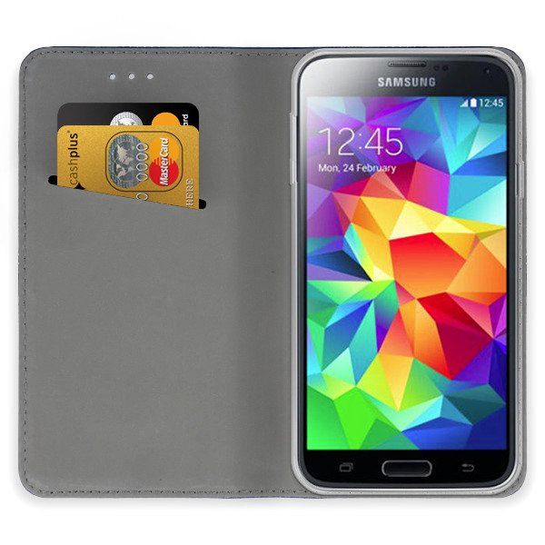 online store 6a38c 90a9b WALLET FLIP CASE COVER Magnetic SmarT SAMSUNG GALAXY S5 G900 TURQUOIS