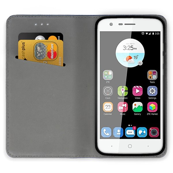 premium selection 01ae6 21431 WALLET FLIP CASE COVER Magnetic SmartCase ZTE BLADE V8 MINI BLACK