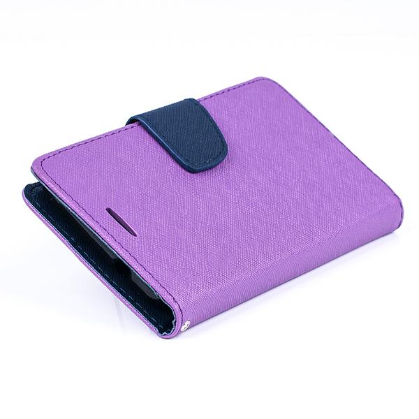 the latest ce755 79b98 WALLET FLIP CASE COVER pocketbook ASUS ZENFONE C ZC451CG Z007 PURPLE