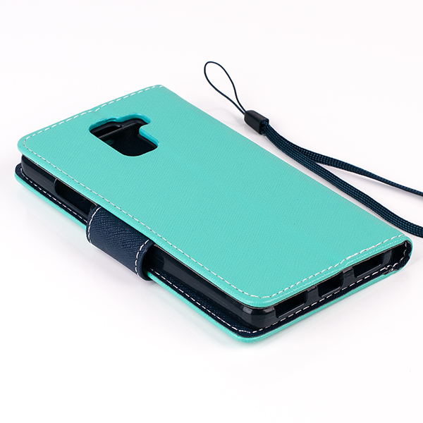 WALLET FLIP CASE COVER pocketbook magnet HUAWEI HONOR 7 mint-navy
