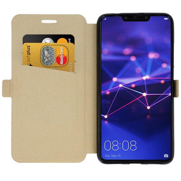 buy popular 76642 45ba1 WALLET FLIP CASE MAGNET pocketbook HUAWEI MATE 20 LITE GOLD