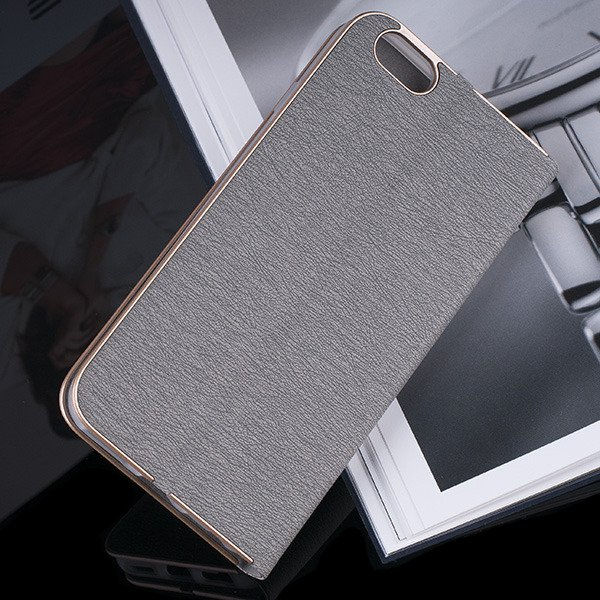 WALLET FLIP CASE Magnetic POSH XIAOMI REDMI NOTE 4 GRAY + GLASS 9H