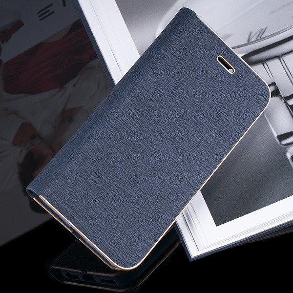 WALLET FLIP CASE Magnetic POSH XIAOMI REDMI NOTE 4X NAVY + GLASS 9H