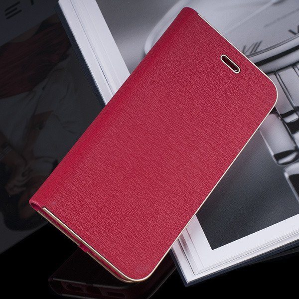 WALLET FLIP CASE Magnetic POSH XIAOMI REDMI NOTE 4X RED + GLASS 9H