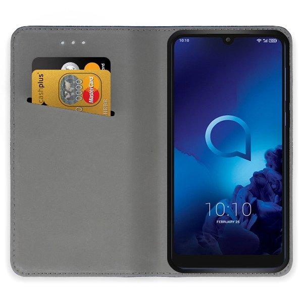 50df7bdbc73de7 WALLET FLIP CASE Magnetic SmartCase ALCATEL 3 2019 BLACK 129072 ...