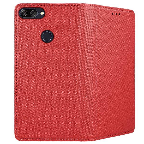 reputable site ba523 6e734 WALLET FLIP CASE Magnetic SmartCase ASUS ZENFONE MAX PLUS M1 RED