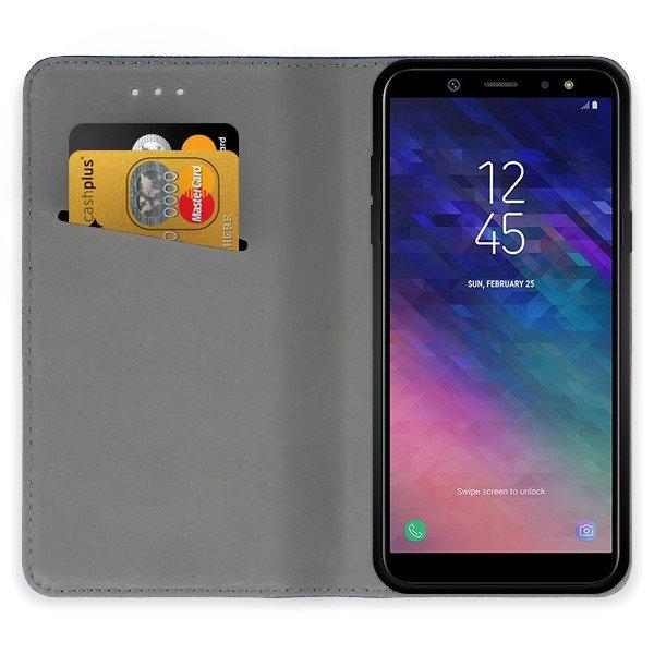 quality design 94217 217d4 WALLET FLIP CASE Magnetic SmartCase SAMSUNG GALAXY A6 PLUS 2018 BLACK