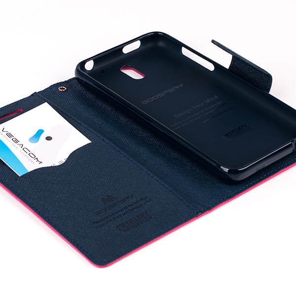WALLET FLIP MERCURY FANCY CASE COVER magnet HTC DESIRE 610 pink-navy