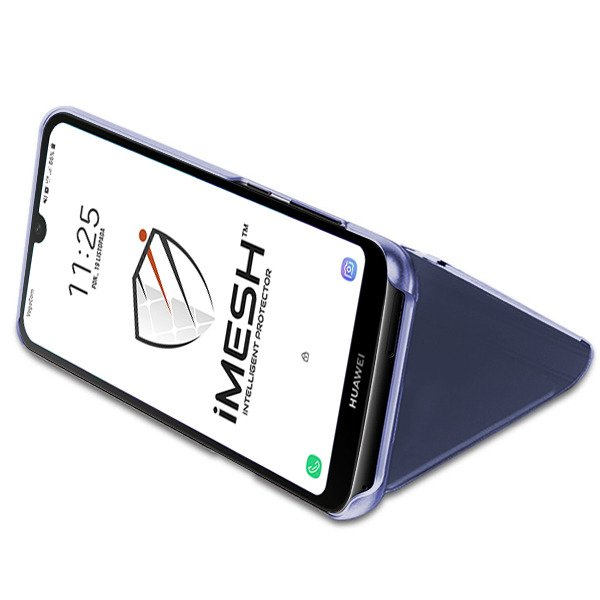 iMesh View case / cover in NAVY color for HUAWEI Y5 2019 + GLASS 5D