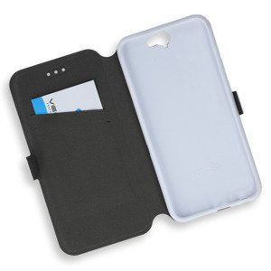 2in1 WALLET FLIP CASE COVER MAGNET pocketbook HTC ONE A9 WHITE