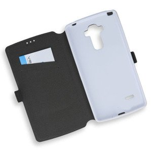 2in1 WALLET FLIP CASE COVER MAGNET pocketbook LG G4 STYLUS WHITE