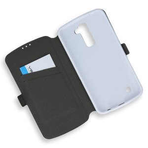 2in1 WALLET FLIP CASE COVER MAGNET pocketbook LG K10 WHITE