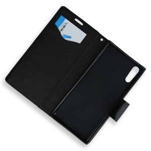 2in1 WALLET FLIP CASE COVER MAGNET pocketbook SONY XPERIA XZS BLACK