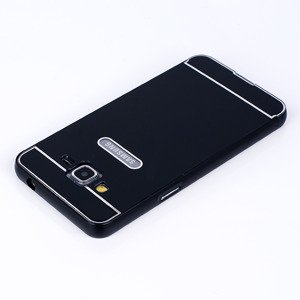 ALUMINIUM FRAME BUMPER CASE COVER GALAXY GRAND PRIME G530 BLACK +Glass