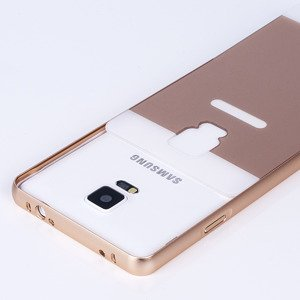 ALUMINIUM FRAME BUMPER CASE COVER SAMSUNG GALAXY NOTE 4 N910 GOLD