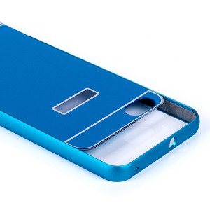 ALUMINIUM FRAME BUMPER CASE COVER for HUAWEI HONOR 4X BLUE + Glass