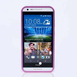 ALUMINIUM FRAME PROTECTION BUMPER CASE COVER HTC DESIRE 620 PINK