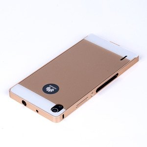 ALUMINIUM FRAME PROTECTION BUMPER CASE COVER HUAWEI ASCEND P7 GOLD