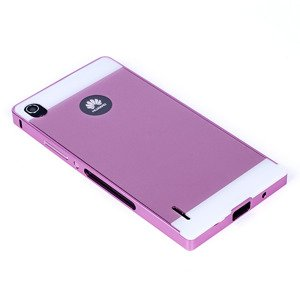 ALUMINIUM FRAME PROTECTION BUMPER CASE COVER HUAWEI ASCEND P7 PINK