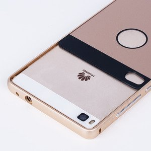 ALUMINIUM FRAME PROTECTION BUMPER CASE COVER HUAWEI ASCEND P8 GOLD
