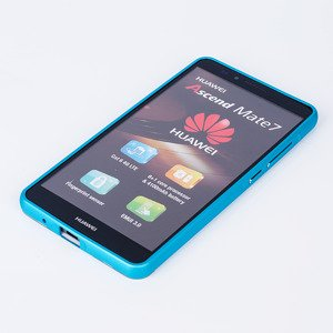 ALUMINIUM FRAME PROTECTION BUMPER CASE COVER HUAWEI MATE 7 BLUE