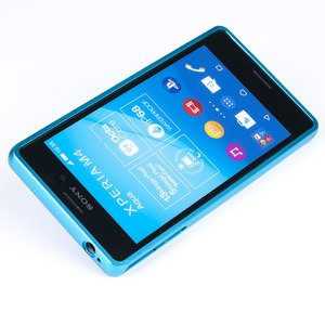 ALUMINIUM FRAME PROTECTION BUMPER CASE COVER SONY XPERIA M4 AQUA BLUE