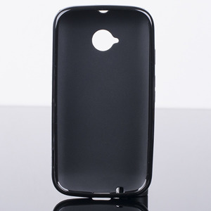 BACK CASE COVER CLEAR GEL TPU MOTOROLA MOTO E2 E 2nd Gen BLACK