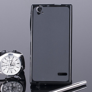 BACK CASE COVER CLEAR GEL TPU ZTE BLADE VEC 4G BLACK