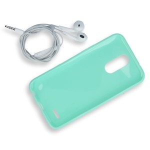 BACK CASE COVER GEL RUBBER JELLY LG K10 2017 MINT