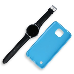 BACK CASE COVER GEL RUBBER JELLY LG X CAM BLUE