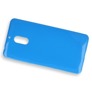 BACK CASE COVER GEL RUBBER JELLY NOKIA 6 BLUE