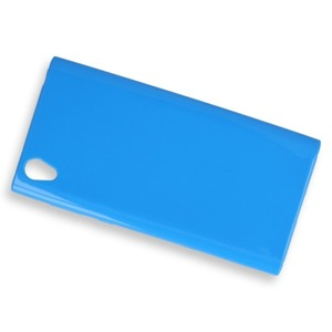 BACK CASE COVER GEL RUBBER JELLY SONY XPERIA L1 BLUE