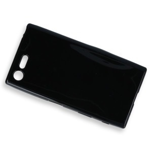 BACK CASE COVER GEL RUBBER JELLY SONY XPERIA X COMPACT BLACK