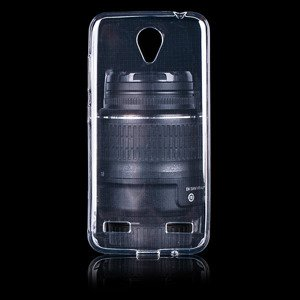 BACK CASE COVER GEL RUBBER JELLY ZTE BLADE A520 TRANSPARENT