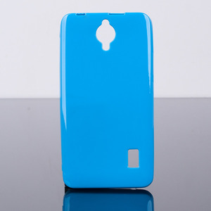 BACK CASE COVER GEL TPU JELLY HUAWEI ASCEND Y635 BLUE