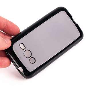 BACK CASE COVER GEL TPU JELLY SAMSUNG GALAXY TREND LITE 2 G318 BLACK