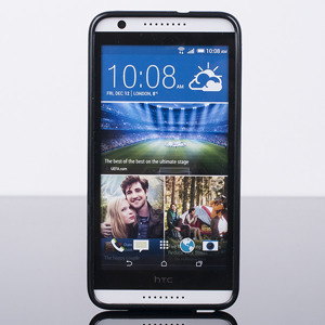 BACK CASE COVER GEL TPU for HTC DESIRE 820 BLACK