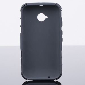 BACK CASE COVER HYBRID CASE HARD MOTOROLA MOTO E2 E 2nd Gen BLACK