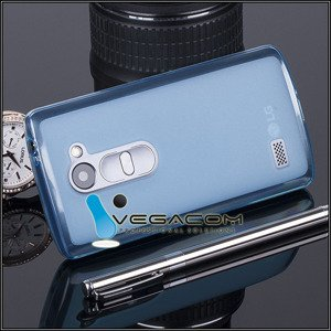 BACK CASE COVER JELLY GEL TPU LG LEON / LEON LTE BLUE