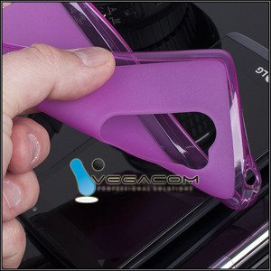 BACK CASE COVER JELLY GEL TPU LG LEON / LEON LTE PINK