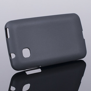 BACK CASE COVER JELLY GEL TPU ZTE KIS 3 III BLACK