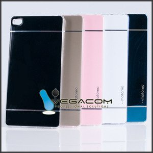 BACK CASE COVER MOTOMO TPU GEL RUBBER HUAWEI ASCEND P8 GOLD