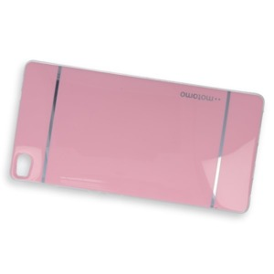 BACK CASE COVER MOTOMO TPU GEL RUBBER HUAWEI ASCEND P8 PINK
