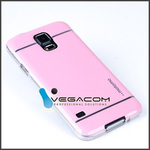 BACK CASE COVER MOTOMO TPU GEL RUBBER SAMSUNG GALAXY S5 SM-G900 PINK