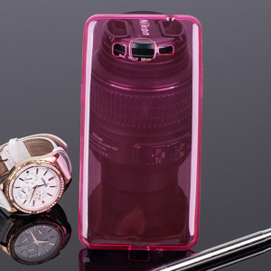 BACK CASE COVER RUBBER GALAXY GRAND PRIME G530 Ultra slim 0.3mm PINK