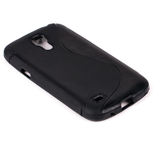 BACK CASE COVER S-LINE GEL TPU SAMSUNG GALAXY S4 MINI GT-I9190 BLACK