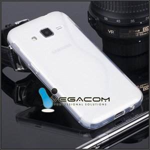 BACK CASE COVER S-LINE SAMSUNG GALAXY CORE PRIME G360 TRANSPARENT