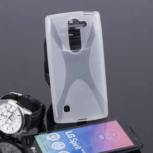 BACK CASE COVER X-LINE GEL TPU LG SPIRIT TRANSPARENT +SCREEN PROTECTOR