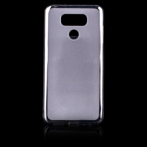 BACK CASE MATT COVER GEL RUBBER JELLY LG G6 BLACK